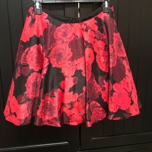 Circle Skirt with Rose pattern size 3